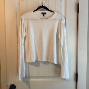 Topshop White Crop Sweater